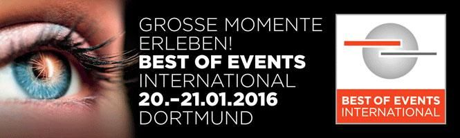 Am 20. Januar startet die BEST OF EVENTS INTERNATIONAL