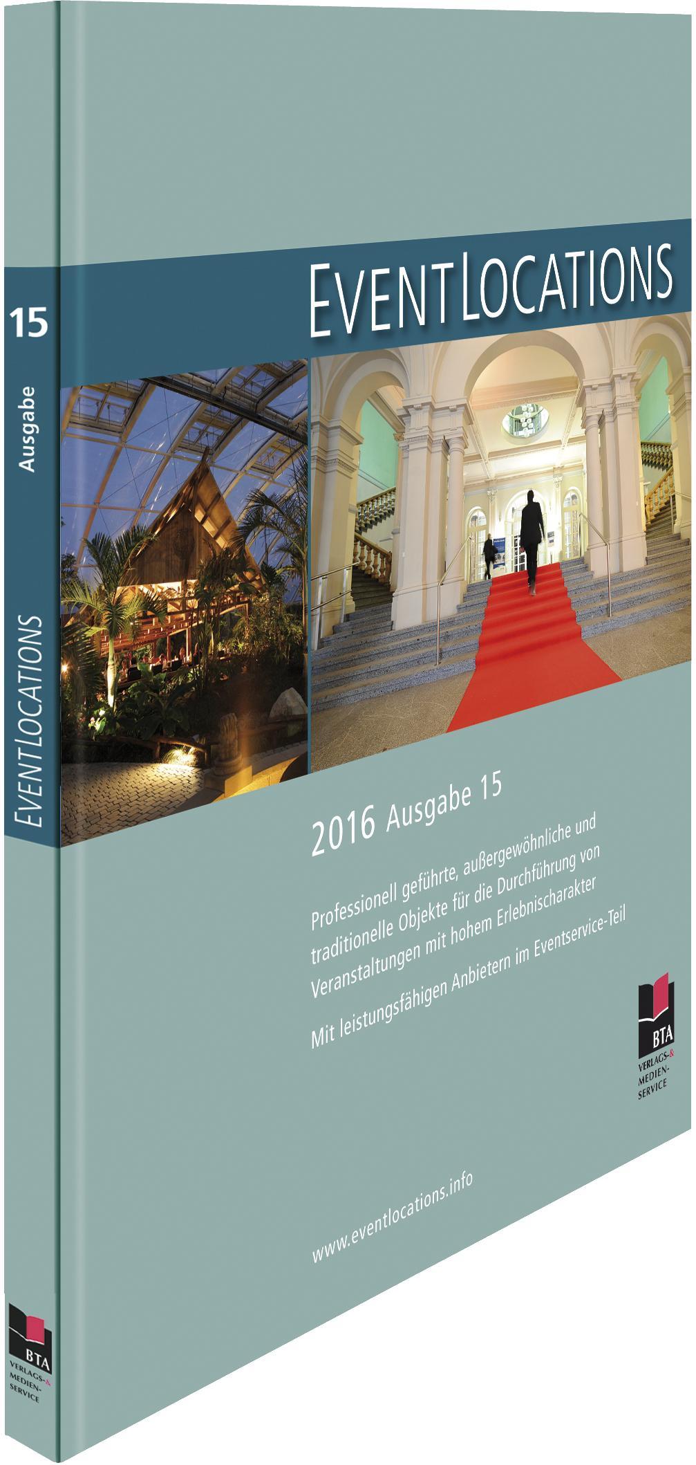 Druckfrisch erschienen: Handbuch Eventlocations 2016 – der Location-Guide mit Mehrwert