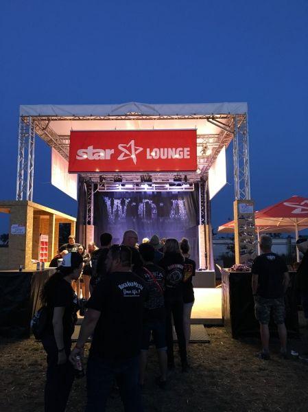 PowerLightsAugsburg installierte das Wacken-Logo aus Wasser