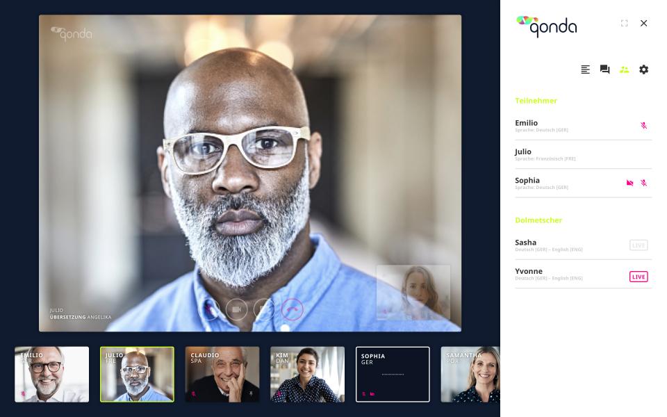 Qonda läutet neue Ära für virtuelles mehrsprachiges Simultandolmetschen ein