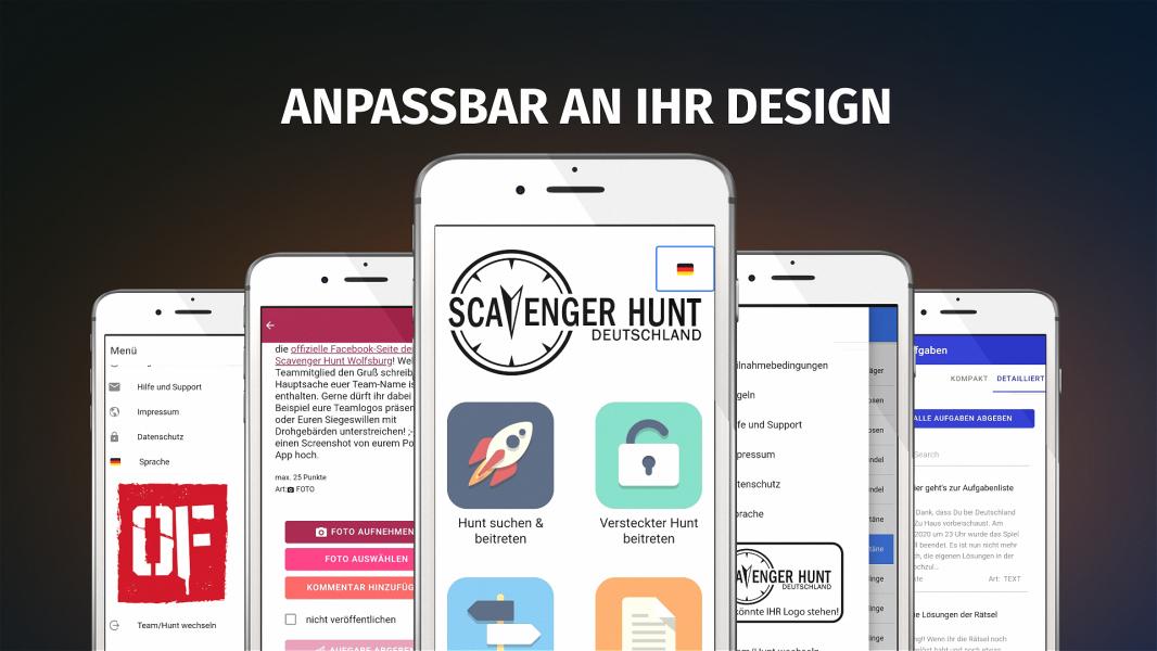 Moderne Schnitzeljagd  mit Scavenger Hunt DE App