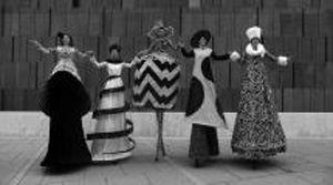 Haute Couture on Stilts