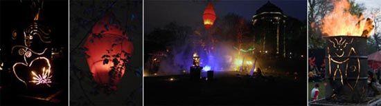 Theater Unglaublich - Festdekorationen mit Licht und Feuer