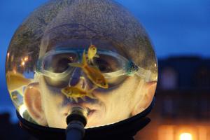 AquamenS - wenn ein Goldfischglas spazieren geht
