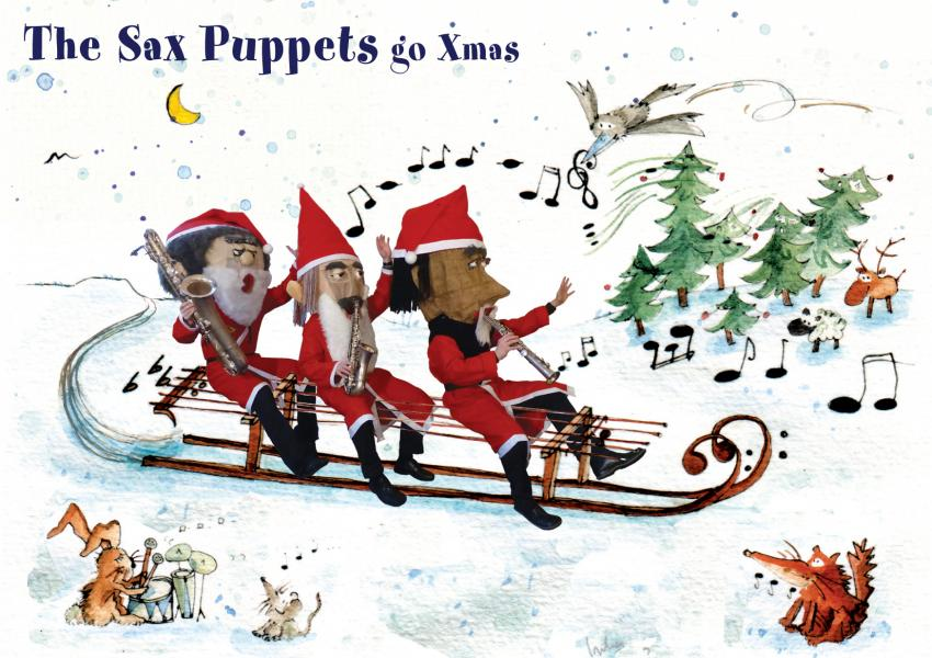 The Sax Puppets go Xmas