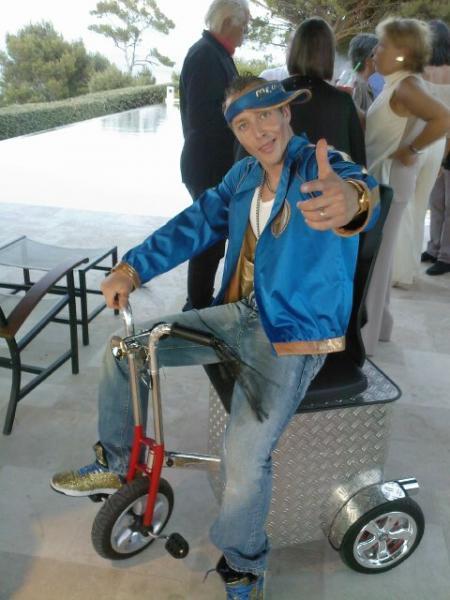 Mr. WOW mit seinem Trike