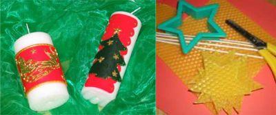 Weihnachtliche Kerzenwerkstatt
