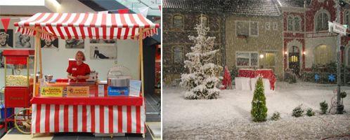 """Weihnachtliche Leckereien am nostalgischen Marktstand mit """"Schneefall"""