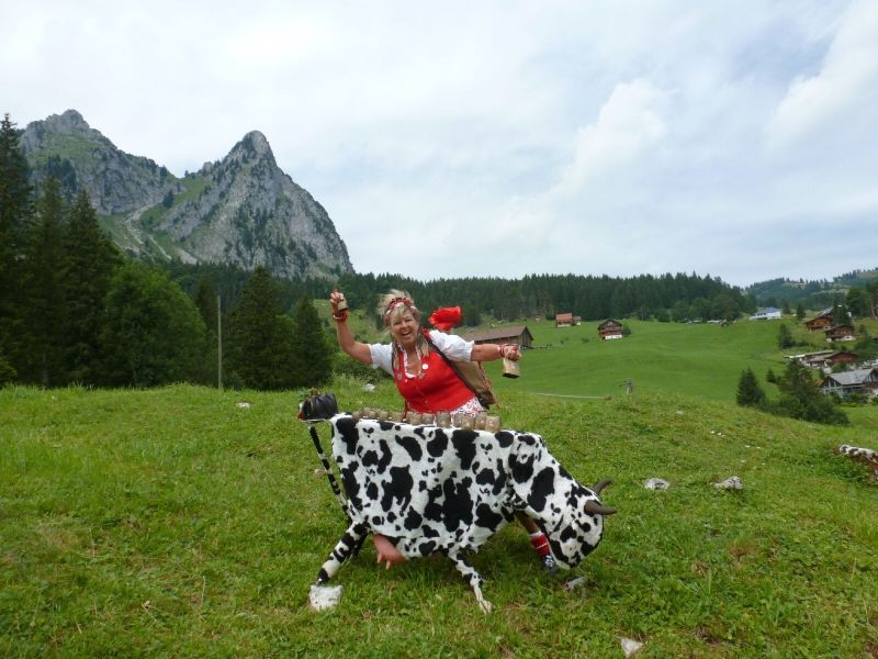 Astrid Haentsch und die rollende Kuh